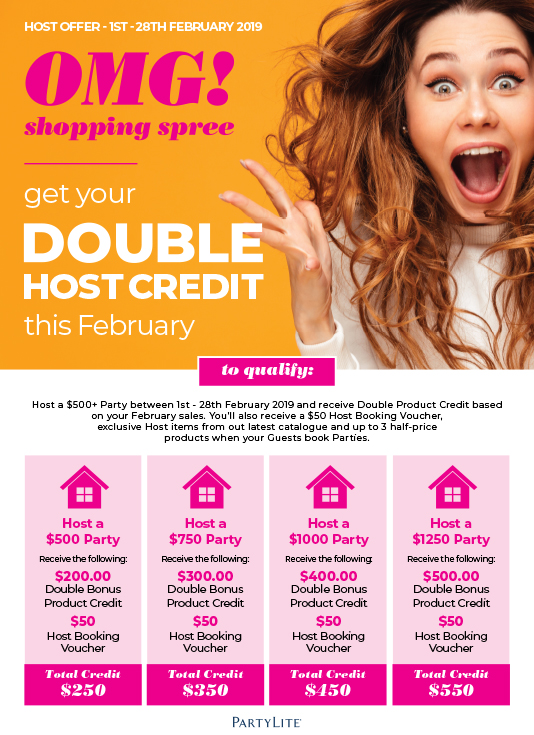 February Double Host Credit