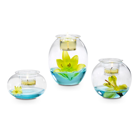 Clearly Creative™ Eclectic Votive Trio