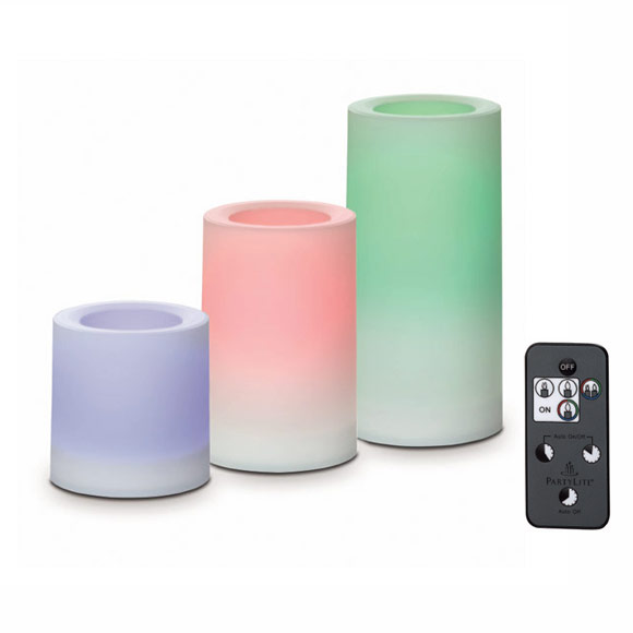 light illusions colour changing outdoor led pillar 10x15 cm. Black Bedroom Furniture Sets. Home Design Ideas